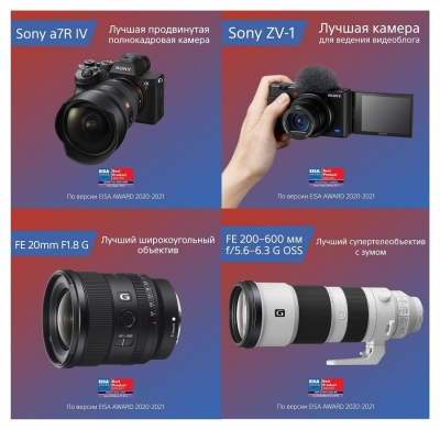 Победа Sony в нескольких номинациях EISA 2020